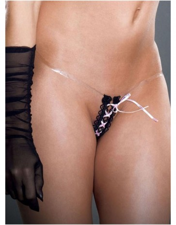 Romantic Fearless & Fun Little Lace up Tiny Tight Thong 003