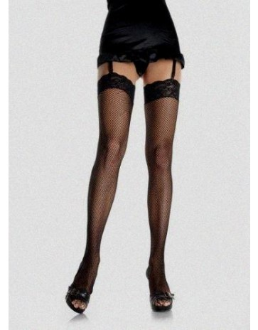 Leg Avenue Fishnet Stockings With a Lace Top 9023