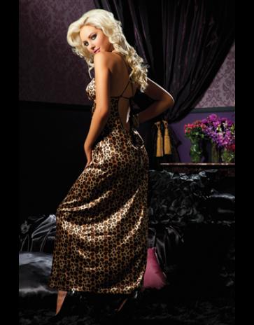 Seven 'til Midnight Floor Length Leopard Print Gown (STM30113)
