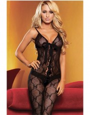 Cheeky Hustler Lace-Up Crotchless Bodystocking HH10
