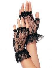 Black Wrist Length Gloves G1205 by Leg Avenue