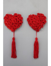 Red Rose Nipple Covers