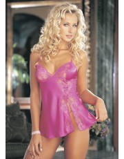 Shirley of Hollywood Pink Charmeuse Babydoll 20016
