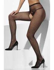Fever Black Crotchless Fishnet Tights