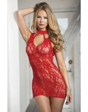 Shirley Of Hollywood Red Lace Chemise 90393