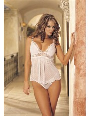 Shirley of Hollywood Unique White Babydoll 96017