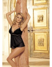 Flexible Lace Hollywood Black Babydoll 96017 by Shirley