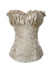 Gold Satin Corset Top