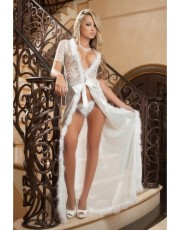 Ivory Glam Night Robe By Gworld - D1504