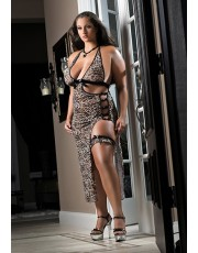 G World Feline Allure Lingerie Long Plus Size Dress D962P