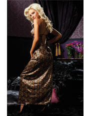 Seven 'til Midnight Floor Length Leopard Print Gown (STM30113)
