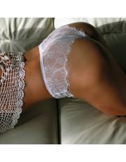 White Lace Shorts By Lola Luna