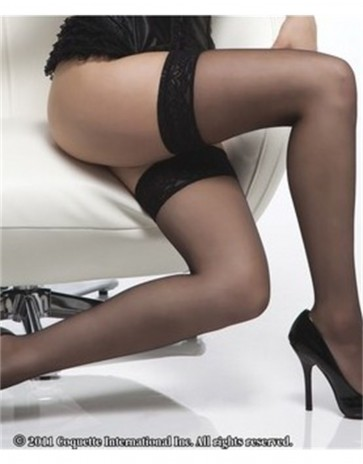 Coquette Sheer Stocking with Lace Top CQ1726