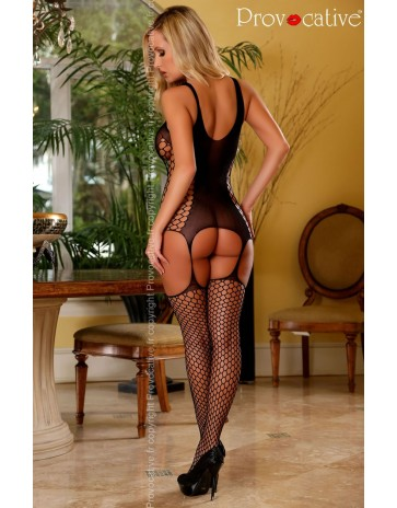 Slinky Provocative Black Bodystocking