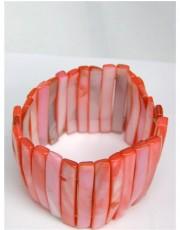 Pink Stretchy Shell Bracelet