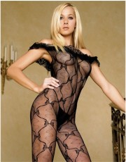 Leg Avenue Bow lace Bodystocking 8809