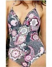 Moontide Cerise Vintage Frill Swimsuit
