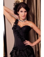 Black Rose Corset Top