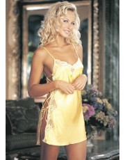 Shirley of Hollywood Yellow Charmeuse Chemise 20015