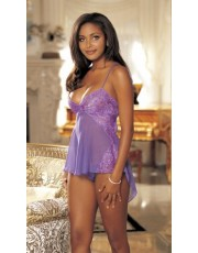 Shirley of Hollywood Violet Chiffon Babydoll 20366
