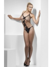 Fever Lattice Net Crotchless Bodystocking
