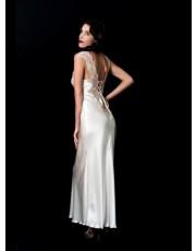 Liliana Casanova Notre Dame Silk Nightdress & Matching Silk Robe in Black - Size 16