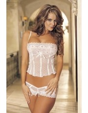 Shirley of Hollywood 96005 Lace Cami & Boyshort White