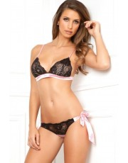 Rene Rofe 2 Pc Bow Boudoir Bra Set (RR532056)