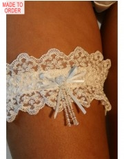 Ivory Bow Garter by DIKI
